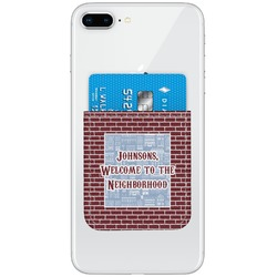 Housewarming Genuine Leather Adhesive Phone Wallet (Personalized)