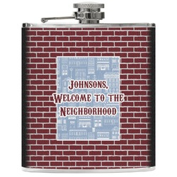 Housewarming Genuine Leather Flask (Personalized)
