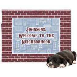 Housewarming Minky Dog Blanket - Large  (Personalized)