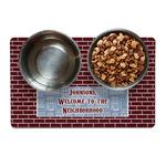 Housewarming Dog Food Mat (Personalized)