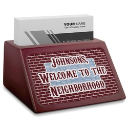 Housewarming Red Mahogany Business Card Holder (Personalized)
