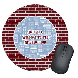 Housewarming Round Mouse Pad (Personalized)
