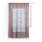 Housewarming Sheer Curtains (Personalized)