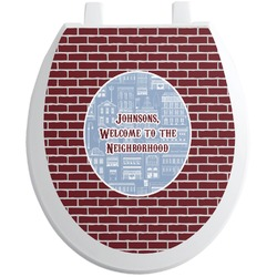 Housewarming Toilet Seat Decal (Personalized)