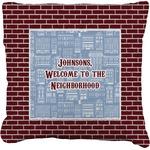 Housewarming Faux-Linen Throw Pillow (Personalized)