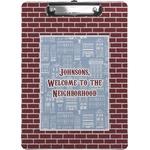 Housewarming Clipboard (Personalized)