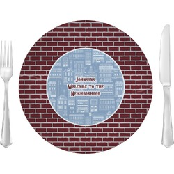 "Housewarming 10"" Glass Lunch / Dinner Plates - Single or Set (Personalized)"