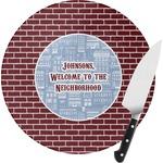 Housewarming Round Glass Cutting Board (Personalized)