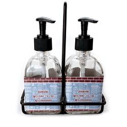 Housewarming Soap & Lotion Dispenser Set (Glass) (Personalized)