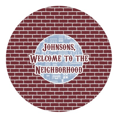 Housewarming Round Decal (Personalized)
