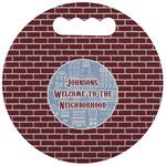Housewarming Stadium Cushion (Round) (Personalized)