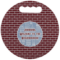 Housewarming Stadium Cushion (Round) (Personalized)