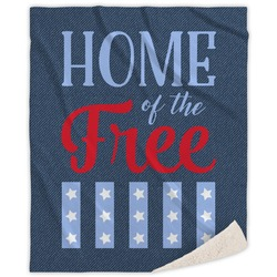 American Quotes Sherpa Throw Blanket (Personalized)