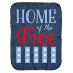 American Quotes Baby Swaddling Blanket (Personalized)