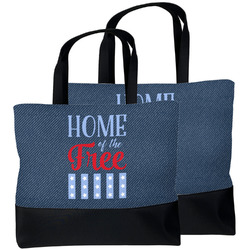 American Quotes Beach Tote Bag (Personalized)