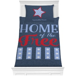 American Quotes Comforter Set - Twin (Personalized)