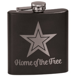 American Quotes Black Flask (Personalized)