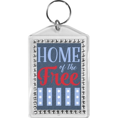 American Quotes Bling Keychain (Personalized)