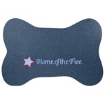 American Quotes Bone Shaped Dog Food Mat (Personalized)