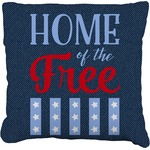 American Quotes Faux-Linen Throw Pillow (Personalized)