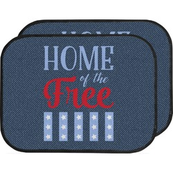 American Quotes Car Floor Mats (Back Seat) (Personalized)