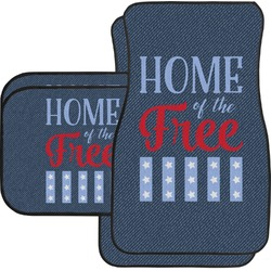 American Quotes Car Floor Mats Set - 2 Front & 2 Back (Personalized)