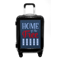 American Quotes Carry On Hard Shell Suitcase (Personalized)