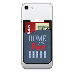 American Quotes 2-in-1 Cell Phone Credit Card Holder & Screen Cleaner (Personalized)
