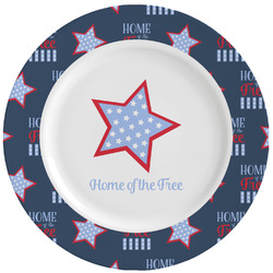 American Quotes Ceramic Dinner Plates (Set of 4) (Personalized)