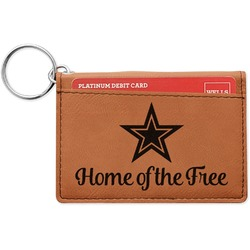American Quotes Leatherette Keychain ID Holder (Personalized)