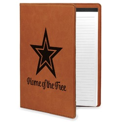 American Quotes Leatherette Portfolio with Notepad - Large - Single Sided (Personalized)