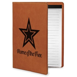 American Quotes Leatherette Portfolio with Notepad - Small - Single Sided (Personalized)