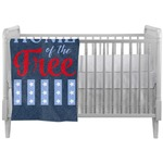 American Quotes Crib Comforter / Quilt (Personalized)