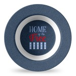American Quotes Plastic Bowl - Microwave Safe - Composite Polymer (Personalized)
