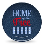 American Quotes Microwave Safe Plastic Plate - Composite Polymer (Personalized)