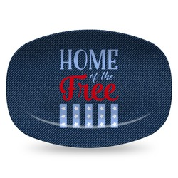 American Quotes Plastic Platter - Microwave & Oven Safe Composite Polymer (Personalized)