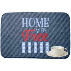 American Quotes Dish Drying Mat (Personalized)