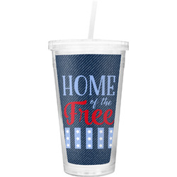 American Quotes Double Wall Tumbler with Straw (Personalized)