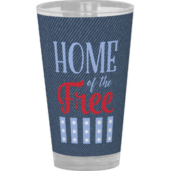 American Quotes Drinking / Pint Glass (Personalized)