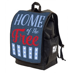 American Quotes Backpack w/ Front Flap  (Personalized)