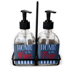 American Quotes Soap & Lotion Dispenser Set (Glass) (Personalized)