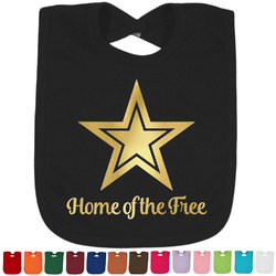 American Quotes Foil Toddler Bibs (Select Foil Color) (Personalized)