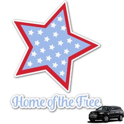 American Quotes Graphic Car Decal (Personalized)