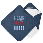 American Quotes Hooded Baby Towel (Personalized)