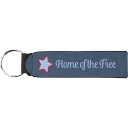 American Quotes Neoprene Keychain Fob (Personalized)