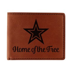 American Quotes Leatherette Bifold Wallet (Personalized)