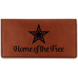 American Quotes Leatherette Checkbook Holder (Personalized)