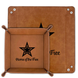 American Quotes Faux Leather Valet Tray