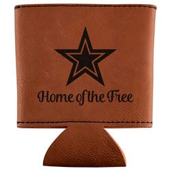 American Quotes Leatherette Can Sleeve (Personalized)