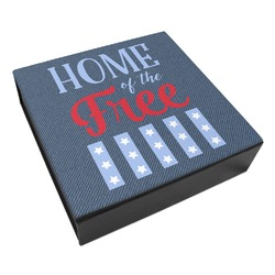 American Quotes Leatherette Keepsake Box - 3 Sizes (Personalized)